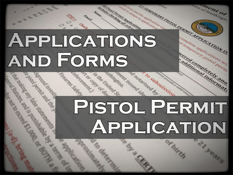Applications and Forms Page.  This Page also has the Pistol Permit Application