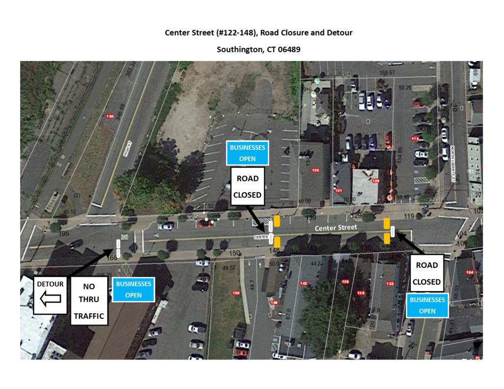 Center Street Closure and Detour Map